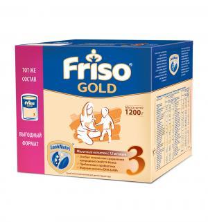 Заменитель молока  Gold 3 с пребиотиками 12 месяцев, 1200 г Friso