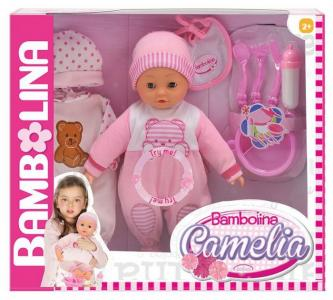 Кукла-пупс интерактивная Camelia 40 см Dimian