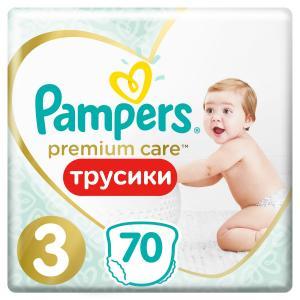 Трусики-подгузники  Premium Care Pants, р. 3, 6-11 кг, 70 шт Pampers