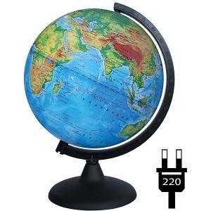 Глобус Земли физический с подсветкой Глобусный Мир