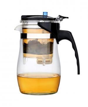 Чайник заварочный (600 мл) с кнопкой-дозатором Эльбрус