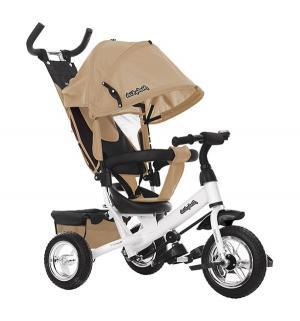 Трехколесный велосипед  Comfort 10x8 EVA, цвет: бежевый Moby Kids