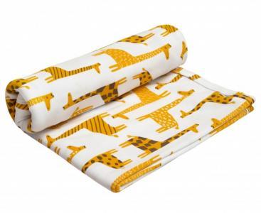 Пеленка  двухслойная трикотажная Soft Hugs Жирафики AmaroBaby