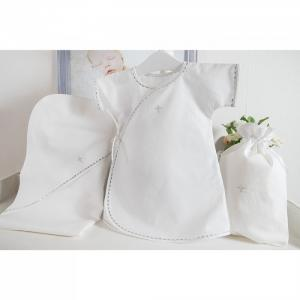 Комплект для крещения мальчика (рубашка, пеленка, мешочек) Pituso