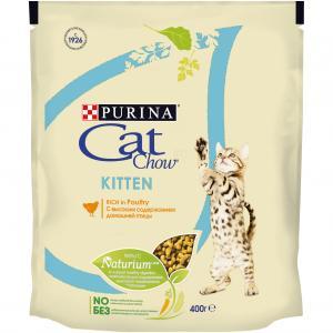 Корм сухой  Naturium для котят, птица, 400г Cat Chow