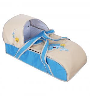 Люлька-переноска для ребенка  Дельфинчик, цвет: бежевый/голубой Slaro