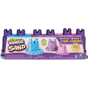 Набор для лепки Kinetic Sand, голубой и фиолетовый Spin Master. Цвет: разноцветный