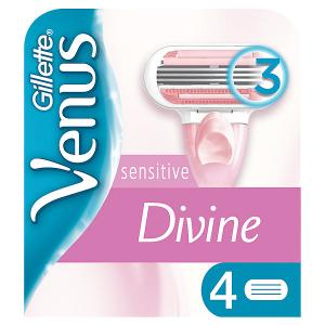 Сменные кассеты для бритвы  Venus Divine Sensitive, 4 шт Gillette