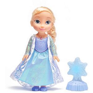 Интерактивная кукла  Холодное Cердце: Снежинка Эльзы, 35 см, свет, звук Disney