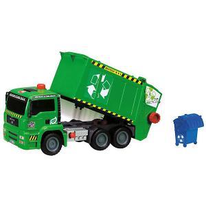 Мусоровоз с контейнером  AirPump, 31 см Dickie Toys. Цвет: зеленый