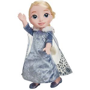 Кукла  Олаф и холодное приключение Эльза, 38 см Jakks Pacific. Цвет: серый