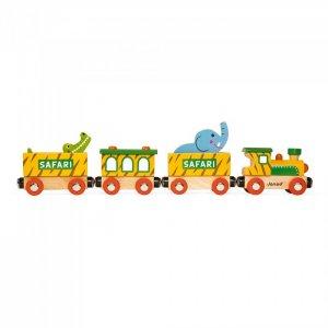 Деревянная игрушка  Поезд на магнитах с фигурками Сафари Janod