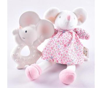 Мягкая игрушка  Подарочный набор Мышка Meiya прорезыватель и MaiyaandAlvin