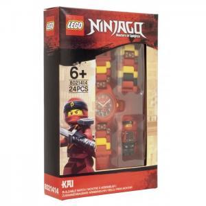 Часы  наручные аналоговые Ninjago Movie с минифигурой Kai на ремешке Lego