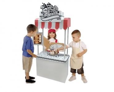 Игровой домик Картонный раскраска Пиццерия CartonHouse