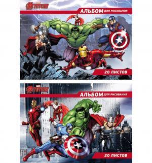 Альбом для рисования А4 20л  Самые могущественные герои земли Marvel