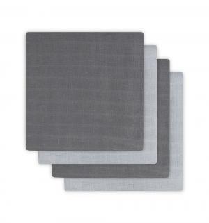 Комплект пеленка 4 шт 70 х см, цвет: серый Jollein