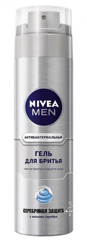Гель для бритья  Серебряная защита, 200 мл Nivea