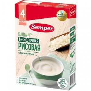 Каша  безмолочная Рисовая с 4 месяцев 180 г Semper