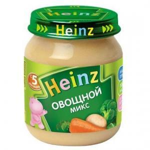 Пюре  овощной микс с 5 месяцев, 120 г Heinz