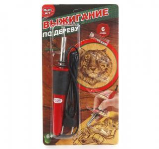 Набор для выжигания  (выжигательный аппарат 6 насадок на блист.) руссифицированная уп. Multiart