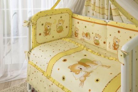 Комплект постельного белья  Ника, цвет: бежевый 7 предметов Perina