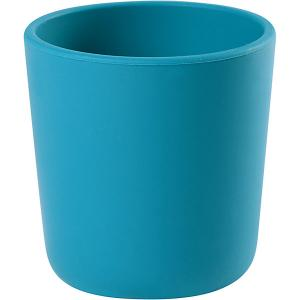 Стакан Beaba Silicone Glass, голубой BÉABA. Цвет: голубой