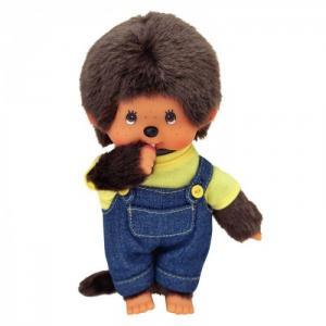 Мягкая игрушка  Мальчик в комбинезоне и футболке 20 см Monchhichi