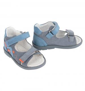 Сандалии , цвет: голубой/серый Dandino