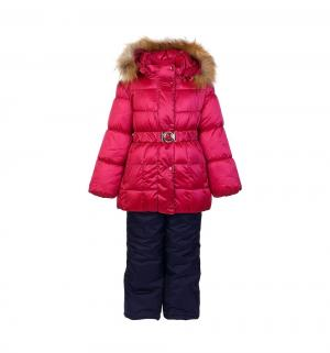 Комплект куртка/полукомбинезон  Фания, цвет: розовый/синий Oldos