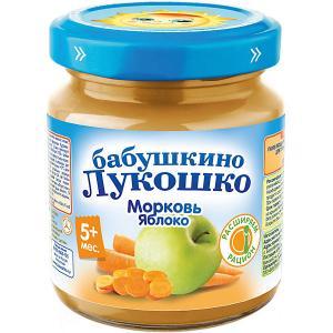 Пюре  морковь яблоко, с 5 мес, 6 шт х 100 г Бабушкино Лукошко