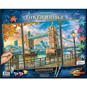 Картина по номерам  Триптих: Тауэрский мост, 50х80 см Schipper. Цвет: разноцветный