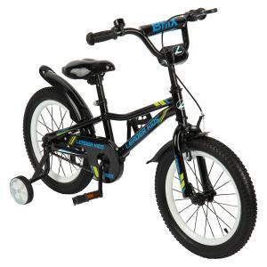 Двухколесный велосипед  G16BD801, цвет: синий/черный Leader Kids