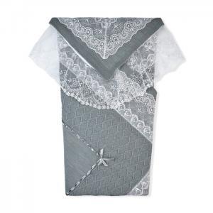 Комплект на выписку (плед, пеленка-уголок) Ришелье Лео