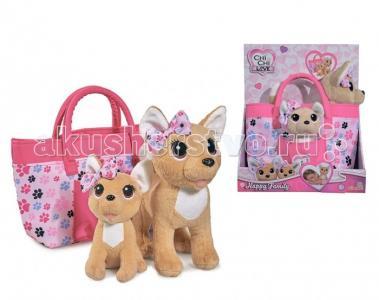 Мягкая игрушка  собачки Счастливая семья 20см 14см Chi-Chi Love