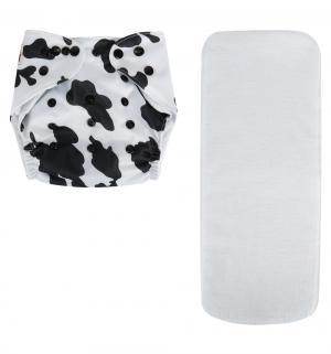 Подгузник  Premium Classic 1 + вкладыш белый/черные пятнышки (3-16 кг) шт. Bamboola