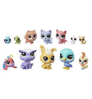 Игровой набор  12 Счастливых петов Капкейк Littlest Pet Shop