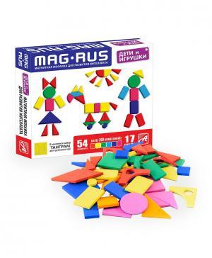 Магнитная мозаика для развития интеллекта Дети и игрушки (54 элемента) Анданте