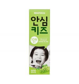 Зубная паста  Safe Kids Green Grape со вкусом винограда, от 3 лет, 80 г Perioe