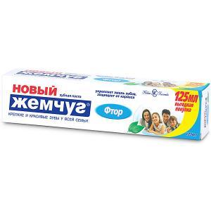 Зубная паста Новый Жемчуг Фтор, 125 мл Невская косметика