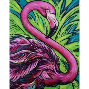 Картина со стразами Розовый фламинго Color Kit