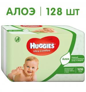 Влажные салфетки  Ultra Comfort Aloe, 128 шт Huggies