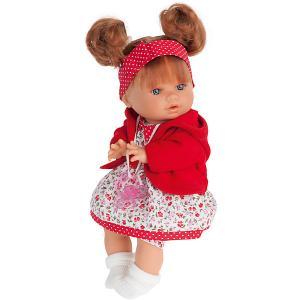 Кукла Кристи в красном, плачущая, 30 см, Munecas Antonio Juan