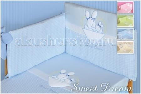 Комплект в кроватку  Sweet Dream (6 предметов) Tuttolina