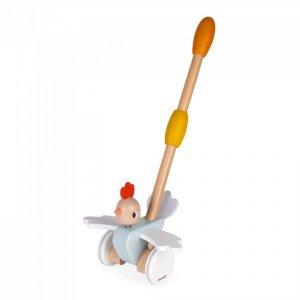 Каталка-игрушка  с ручкой Цыпленок Janod