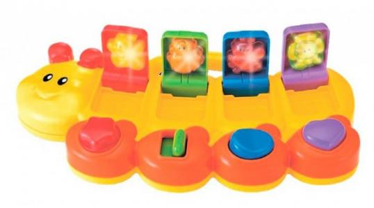 Развивающая игрушка  Смешная гусеница со светом и звуком B kids