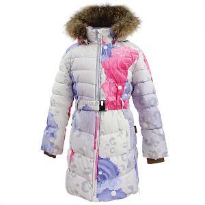 Пальто YASMINE  для девочки Huppa. Цвет: белый