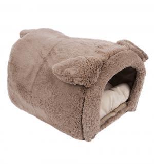 Лежанка-домик для кошек  Taddy bear, цвет: серый, M 50*35*30см Зоогурман