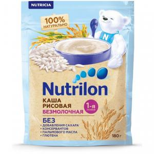 Каша  безмолочная Рисовая с 6 месяцев 180 г Nutrilon