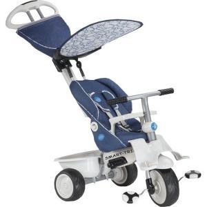 Трехколесный велосипед  Stoller с ручкой, цвет: синий Smart Trike